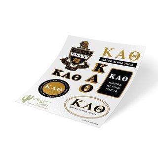 Kappa Alpha Theta Traditional Sticker Sheet