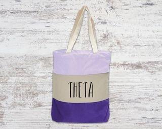 Kappa Alpha Theta Tri Color Tote Bag