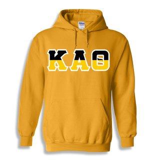 Kappa Alpha Theta Two Tone Greek Lettered Hooded Sweatshirt