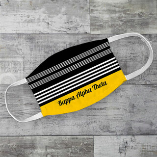 Kappa Alpha Theta Two Tone Stripes Face Mask