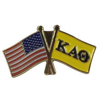 Kappa Alpha Theta USA Flag Lapel Pin
