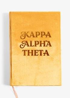 Kappa Alpha Theta Velvet Notebook