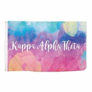Kappa Alpha Theta Watercolor Flag
