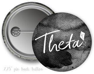 Kappa Alpha Theta Watercolor Script Button
