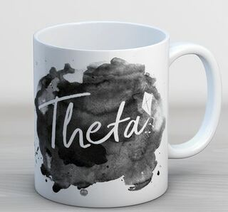 Kappa Alpha Theta Watercolor Script Coffee Mug