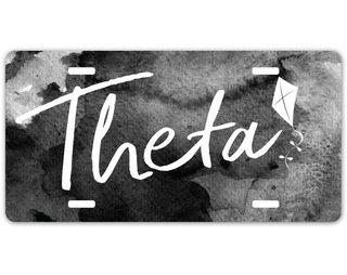 Kappa Alpha Theta Watercolor Script License Plate