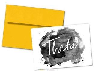 Kappa Alpha Theta Watercolor Script Notecards(6)