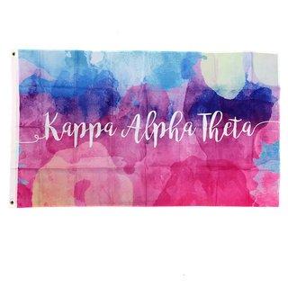 Kappa Alpha Theta Watercolor Sorority Flag