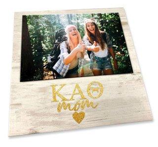 "Kappa Alpha Theta White 7"" x 7"" Faux Wood Picture Frame"