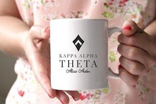 Kappa Alpha Theta White Mascot Coffee Mug