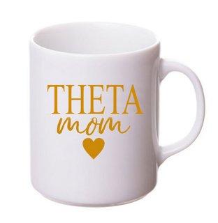Kappa Alpha Theta White Personalized Coffee Mug