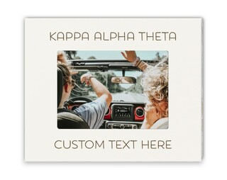 Kappa Alpha Theta Whitewash Picture Frame