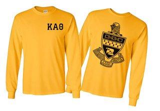 Kappa Alpha Theta World Famous Crest Long Sleeve T-Shirt- MADE FAST!