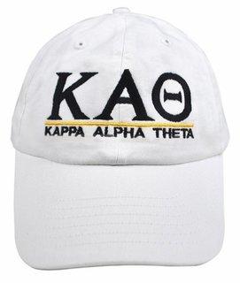 Kappa Alpha Theta World Famous Line Hat - MADE FAST!