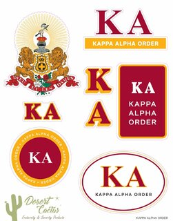 Kappa Alpha Traditional Sticker Sheet