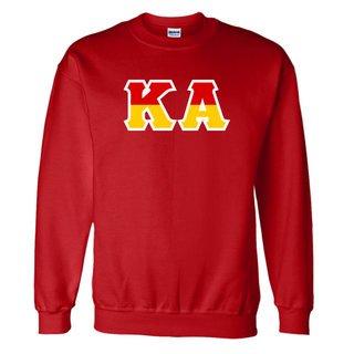 Kappa Alpha Two Tone Greek Lettered Crewneck Sweatshirt
