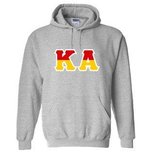 Kappa Alpha Two Tone Greek Lettered Hooded Sweatshirt