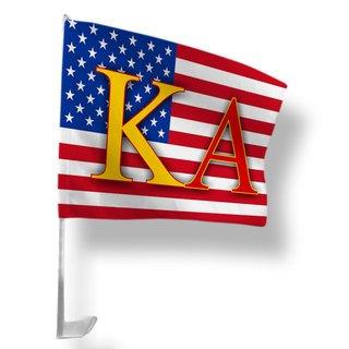 Kappa Alpha USA Car Flag