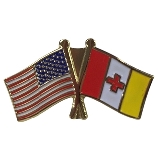 Kappa Alpha USA Flag Lapel Pin