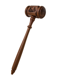 Kappa Alpha Walnut Gavel