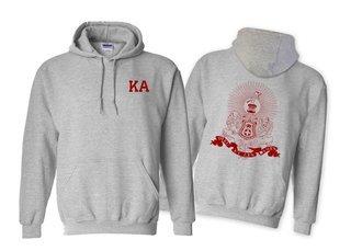 Kappa Alpha World Famous Crest - Shield Printed Hooded Sweatshirt- $35!