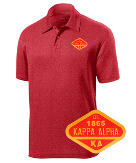 DISCOUNT-Kappa Alpha Woven Emblem Greek Contender Polo