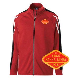 DISCOUNT-Kappa Alpha Woven Emblem Greek Flux Track Jacket