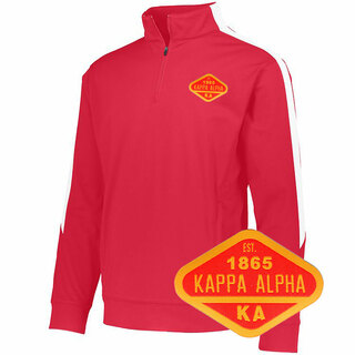 DISCOUNT-Kappa Alpha Woven Emblem Greek Medalist Pullover