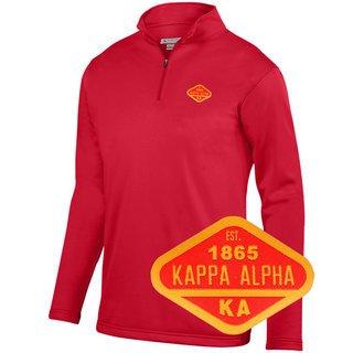 DISCOUNT-Kappa Alpha Woven Emblem Wicking Fleece Pullover