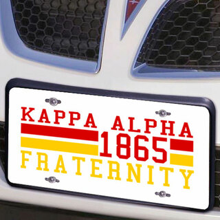 Kappa Alpha Year License Plate Cover