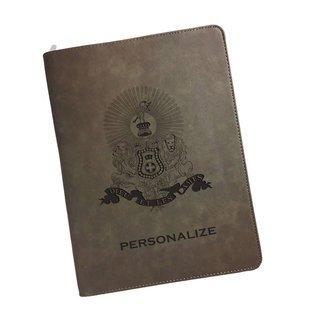 Kappa Alpha Zipper Leatherette Portfolio with Notepad