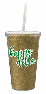 Kappa Delta 16 OZ Sorority Newport Glitter Tumbler