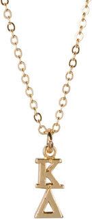 Kappa Delta 22 k Yellow Gold Plated Lavaliere Necklace - ON SALE!