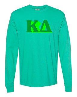 Kappa Delta 3 D Greek Long Sleeve T-Shirt - Comfort Colors