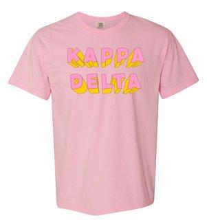 Kappa Delta 3Delightful Tee - Comfort Colors