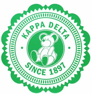 "Kappa Delta 5"" Sorority Seal Bumper Sticker"