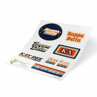 Kappa Delta 70's Sticker Sheet