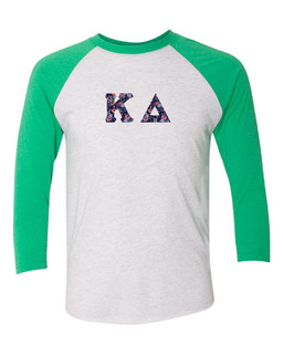 Kappa Delta Unisex Tri-Blend Three-Quarter Sleeve Baseball Raglan Tee