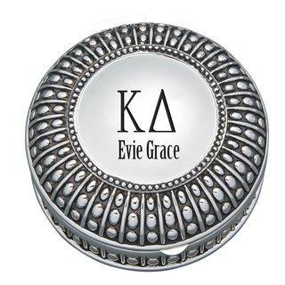Kappa Delta Antique Beaded Pin Box