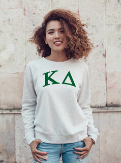 Kappa Delta Arched Greek Lettered Crewneck Sweatshirt