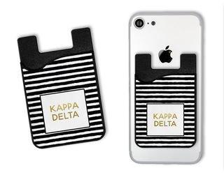 Kappa Delta Gold Stripes Caddy Phone Wallet