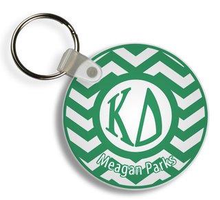 Kappa Delta Chevron Keychains