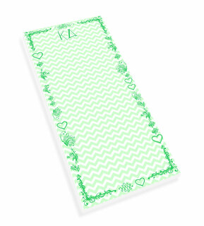 Kappa Delta Chevron Long Notepad