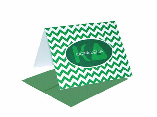 Kappa Delta Chevron Note Cards w/ Envelopes (10)