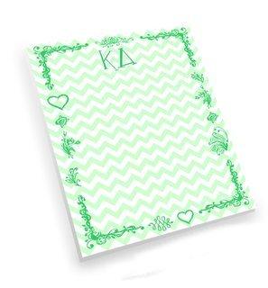 Kappa Delta Chevron Notepad