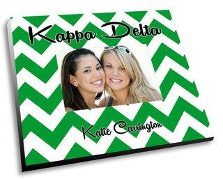 Kappa Delta Chevron Picture Frame