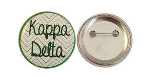 Kappa Delta Chevron Script Button