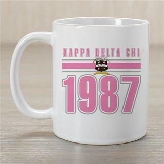 Kappa Delta Chi Established Year Coffee Mug - Personalized!