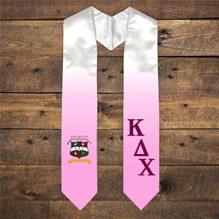 Kappa Delta Chi Extra Fancy Diagonal Greek Graduation Stole W Crest