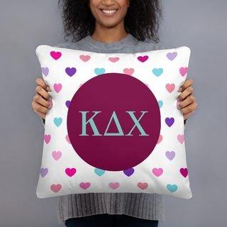 Kappa Delta Chi Hearts Pillow